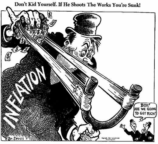 Image result for dr seuss inflation cartoon