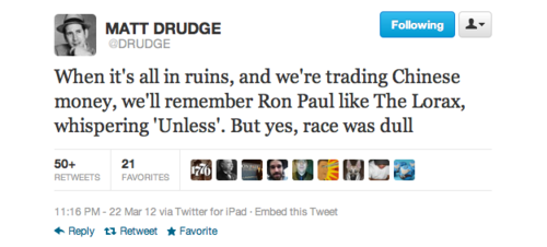 matt drudge on ron paul